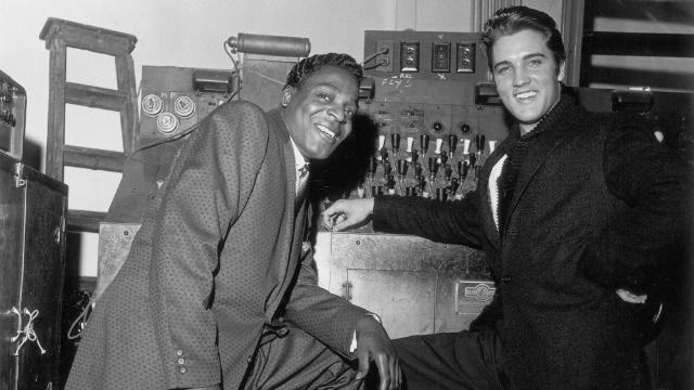 Elvis Presley, backstage with Brook Benton, WDIA Goodwill Review 1447236245081benton_preseley_sito